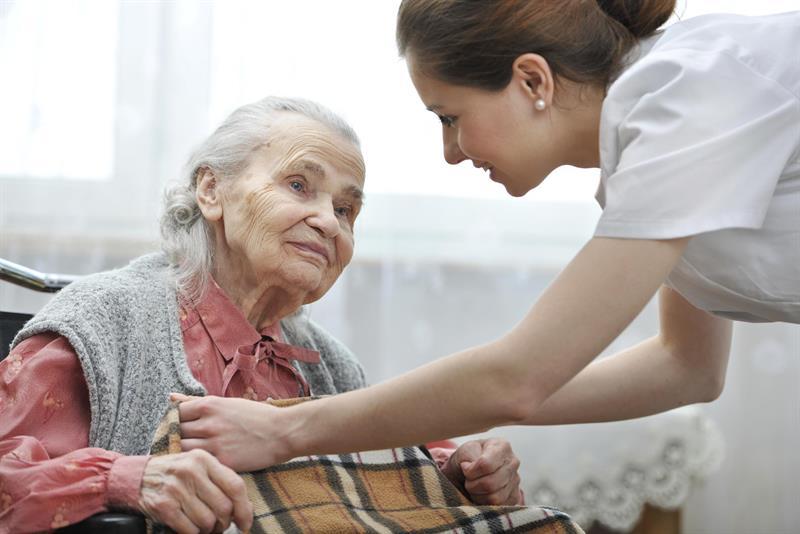 Elderly woman with Alzheimer's