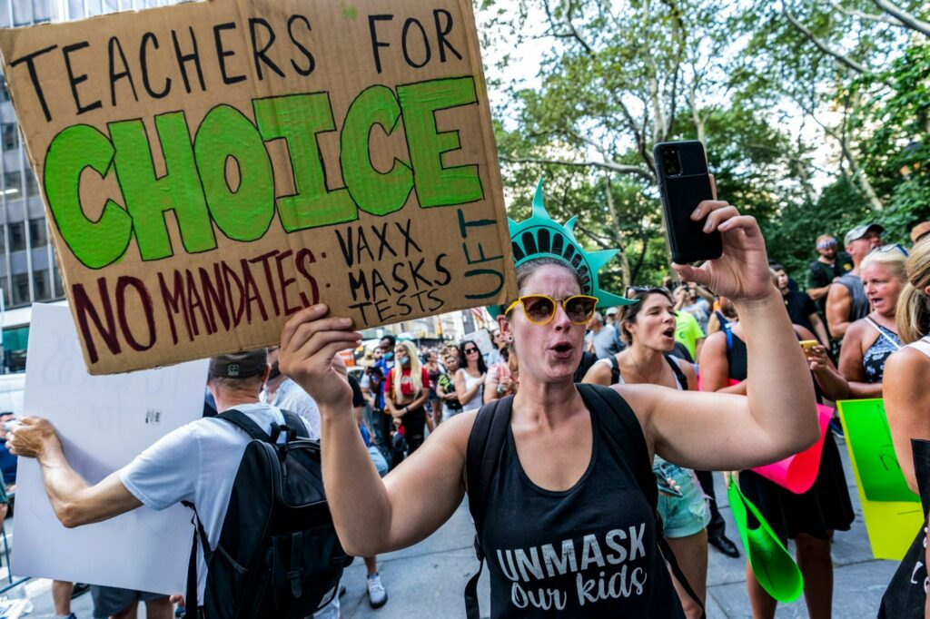 vaccine protesters